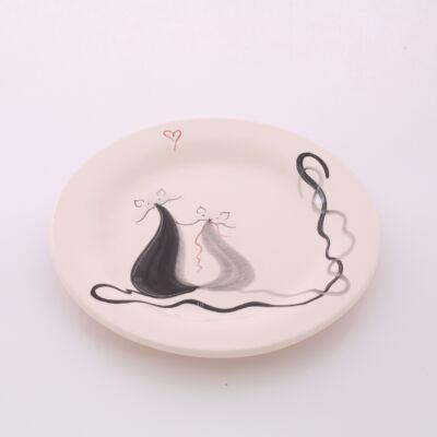 Desszert tányér cicás